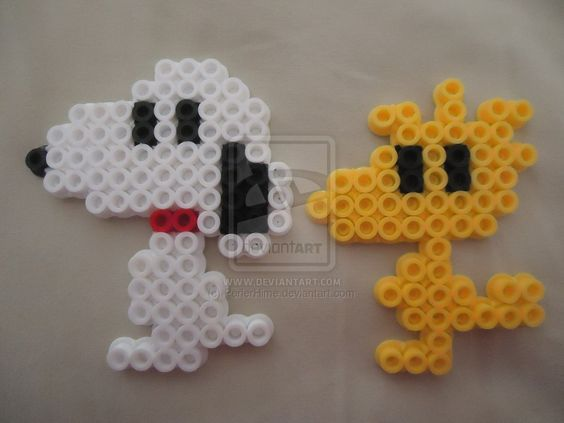 Snoopy and Woodstock by PerlerHime