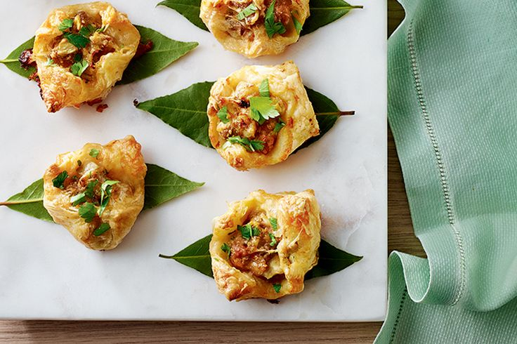 Chorizo and asiago cheese puff pastry puffs