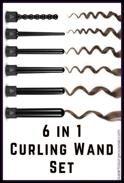 Omg this interchangeable curling wand set is PERFECT.