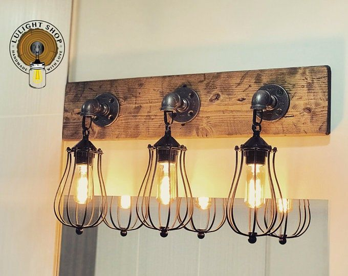 Rustic Mason Jar Pendant Light Farmhouse Industrial Etsy Rustic Light Fixtures Rustic Lighting Vintage Bathroom Lighting