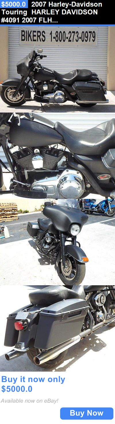 Motorcycles: 2007 Harley-Davidson Touring Harley Davidson #4091 2007 Flhtpi Rebuildable Title BUY IT NOW ONLY: $5000.0