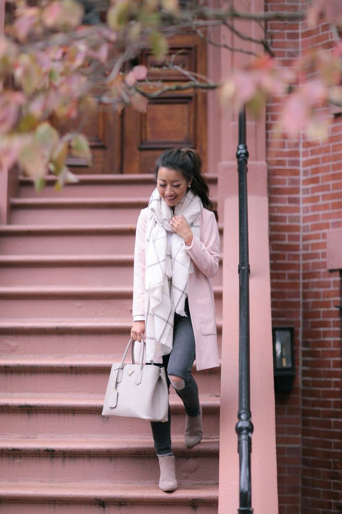 classic boston cold weather fall outfit from extra petite blog
