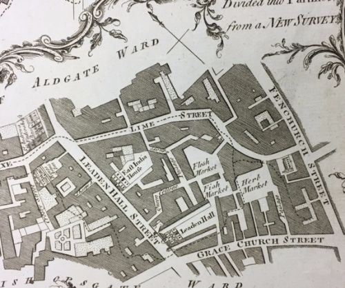 The history of East India Company headquarters in London – incl. C18th crimson velvet furnishing.