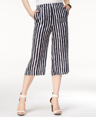 Armani Exchange Striped Cropped Pants