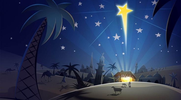 Not so much the overall graphic but the idea of the star and the lit up manger.