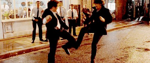 Bridget Jones scene -Mark Darcy & Daniel Cleaver fight. Nothing funnier than two blokes going at it.