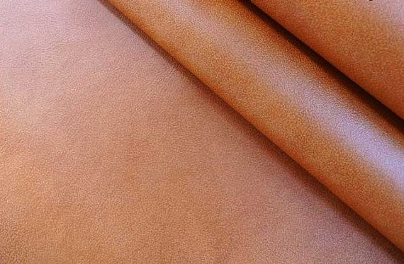 Fat quarter 18x22 inch (46x56cm) 0.8mm premium PU leather fabric / orange red / for DIY handbag, sofa, car interior decal / cs012