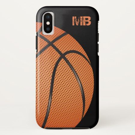 Cool Mens Basketball Monogram Theme iPhone X Case - tap, personalize, buy right now!