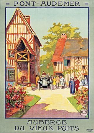 FRANCE - Pont Audemer, Auberge du Vieux Puits Charles Hallo (ALO) #Vintage #Travel