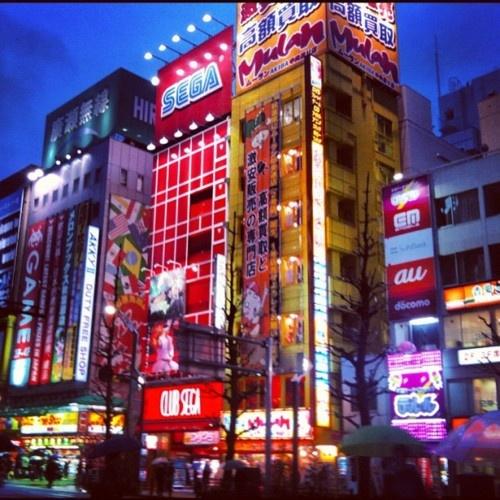 Akihabara night light game center Japan Tokyo