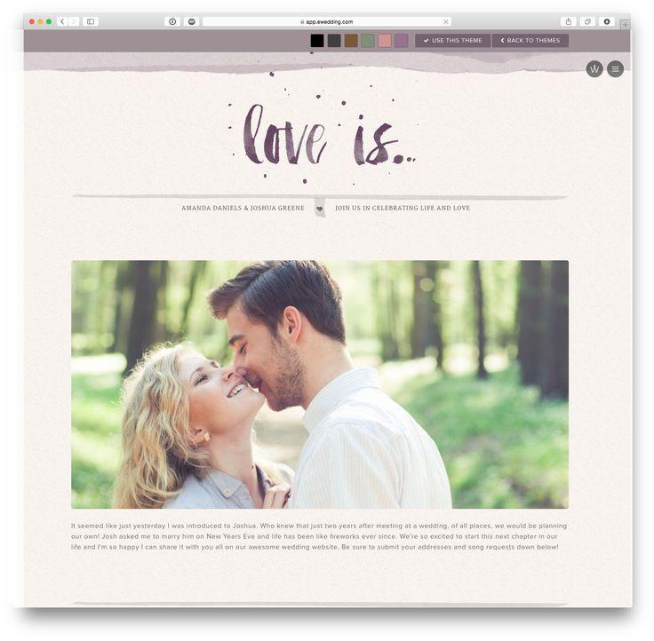 'Milah' wedding website theme at eWedding.com