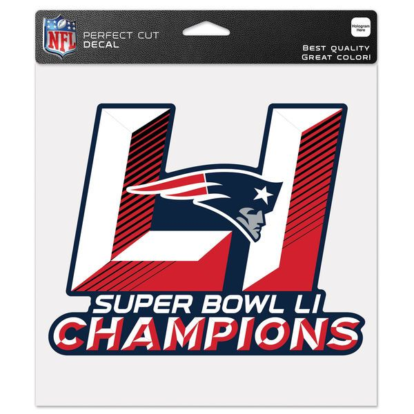 "New England Patriots WinCraft Super Bowl LI Champions 8"" x 8"" Perfect Cut Color Decal - $9.99"