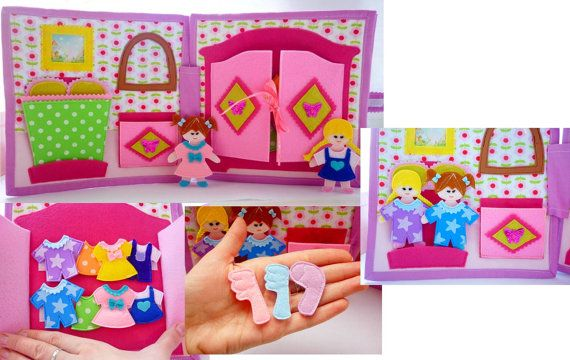 Quiet bookbusy book toddler activity bookDollhouse by HappyMumToys