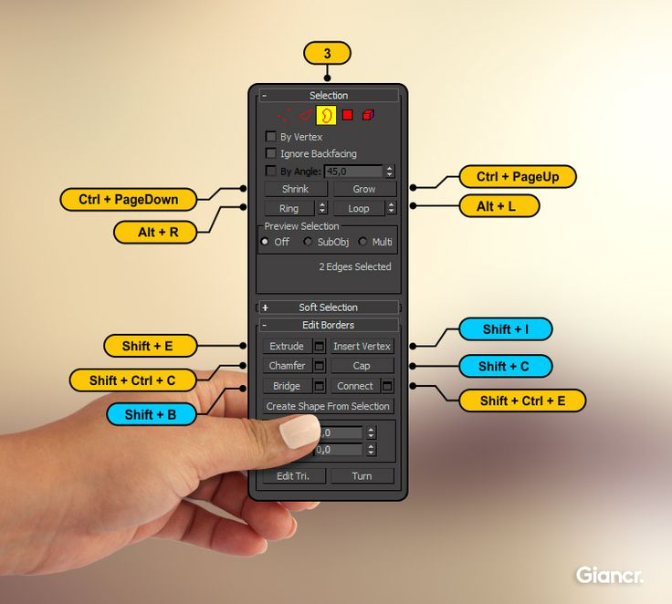 border shortcuts 3ds max