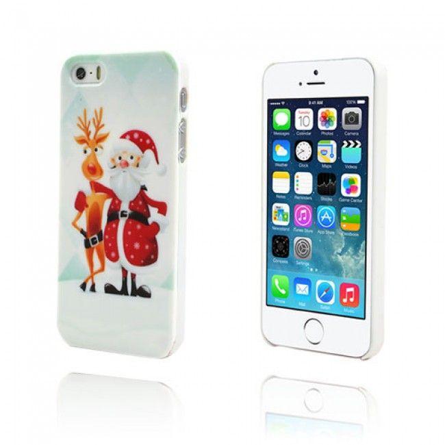 Cristmas iPhone 5/5S Suojakuori (Valkoinen) - http://lux-case.fi/cristmas-iphone-5-5s-suojakuori-valkoinen.html
