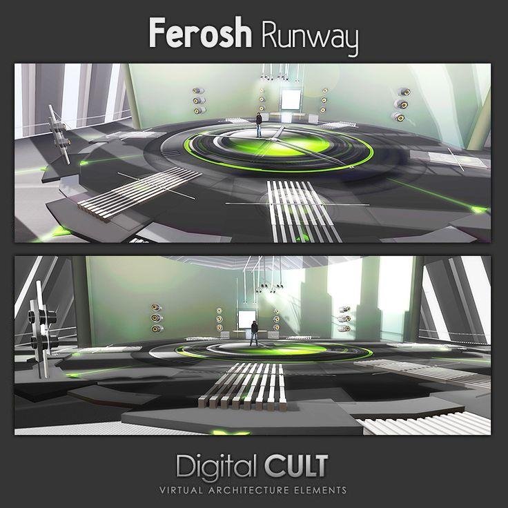 """Second Life -- """"DIGITAL CULT"""" Virtual Reality Lab -- Here's a new Custom building -- """"FEROSH Fashion Runway""""  Our Website: http://www.mydigitalcult.com SL SHOWROOM http://maps.secondlife.com/secondlife/New%20ITLAND/121/140/32   Custom Buildings: http://news.mydigitalcult.com/custom.html"""