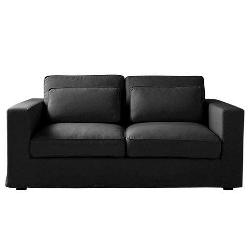Canapé lit 3 places convertible noir
