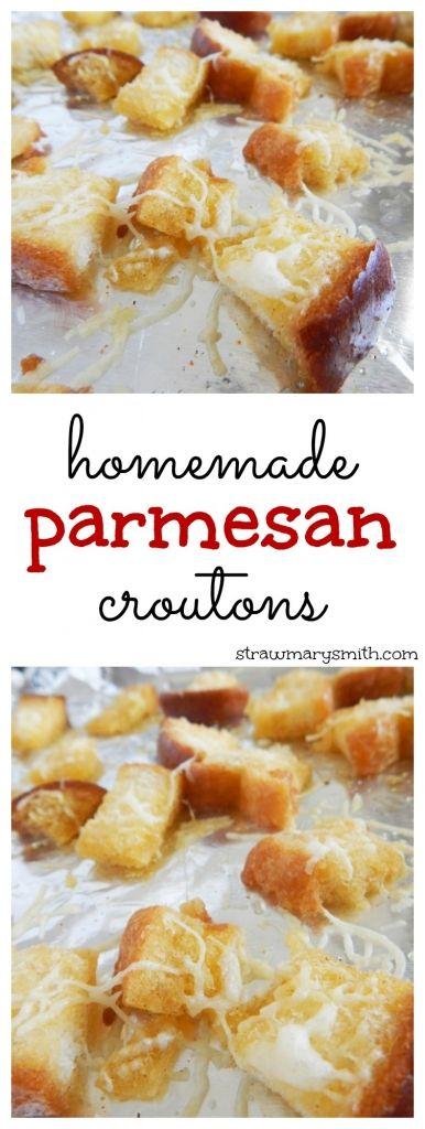 Homemade Parmesan Croutons: a little crunch, a little cheese, a little ...