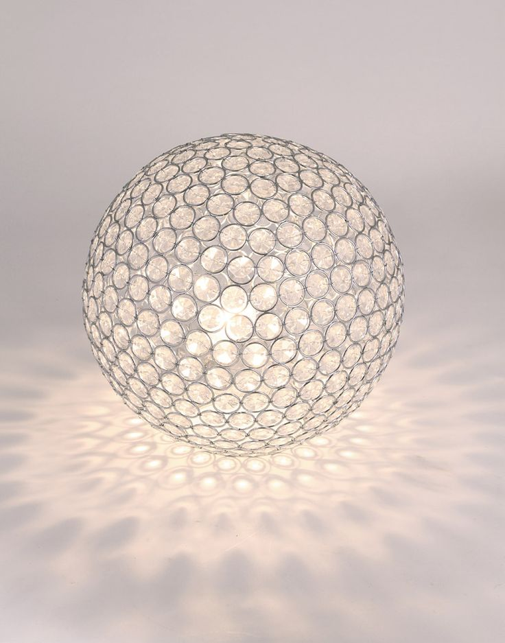 clear acrylic ball table lamp pacific lifestyle lighting. Black Bedroom Furniture Sets. Home Design Ideas