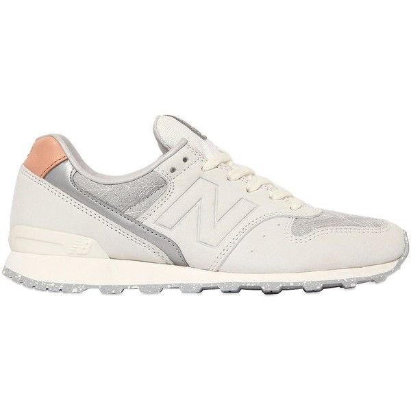 NEW BALANCE 996 Limit.Ed Nubuck & Mesh Sneakers (1.640 NOK) ❤ liked on Polyvore featuring shoes, sneakers, new balance, mesh sneakers, mesh shoes, new balance trainers and rubber sole shoes