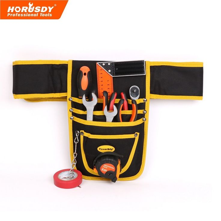 best price horusdy 10 pocket tool pouch electrician waterproof case hanging type high quality #electricians #tool #belt