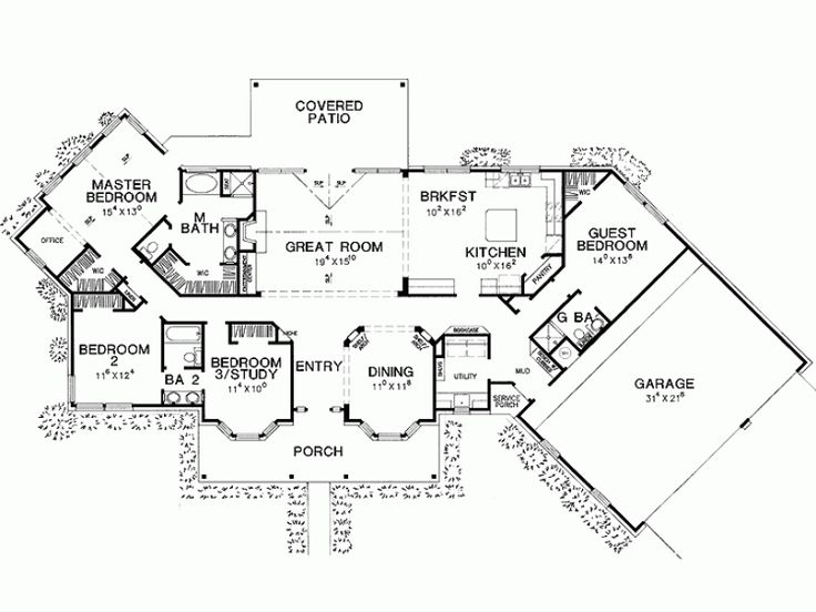 195 best house plans images on pinterest home plans for House plans with separate office entrance