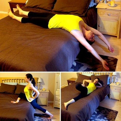 Stretches before bedtime will help you to relieve stress and sleep better.   Have a peaceful Sunday sleep!