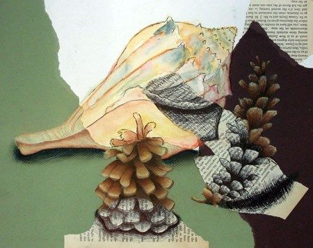 Mixed Media Still Life mask drawing - Google Search