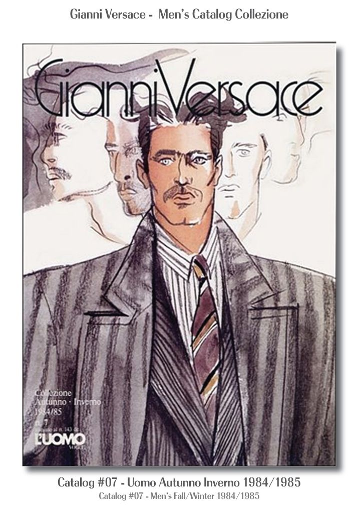 Gianni Versace Catalogue #07, Collezione Uomo Autunno Inverno 1984 / 1985. Men's Fall Winter Catalog 84 / 85.