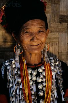 Burma | Elderly Kachin Woman in Tradition Dress. Myitkyina | © Nevada Wier/Corbis