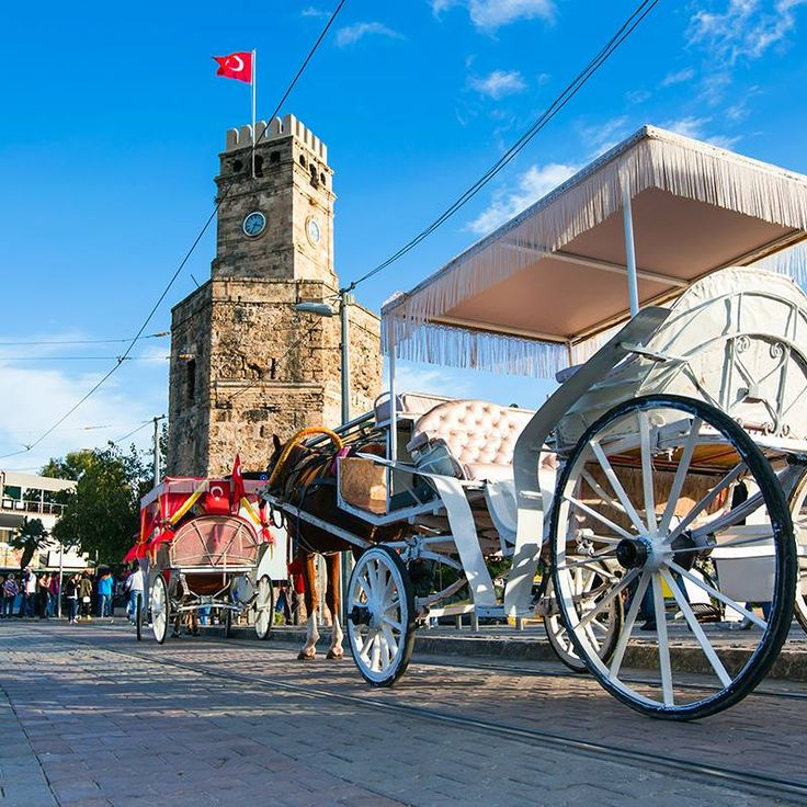 A visit to Antalya isn't complete before you've taken a ride on one of the nostalgic phaetons! They're all right next to the old clock tower, so easy to find!