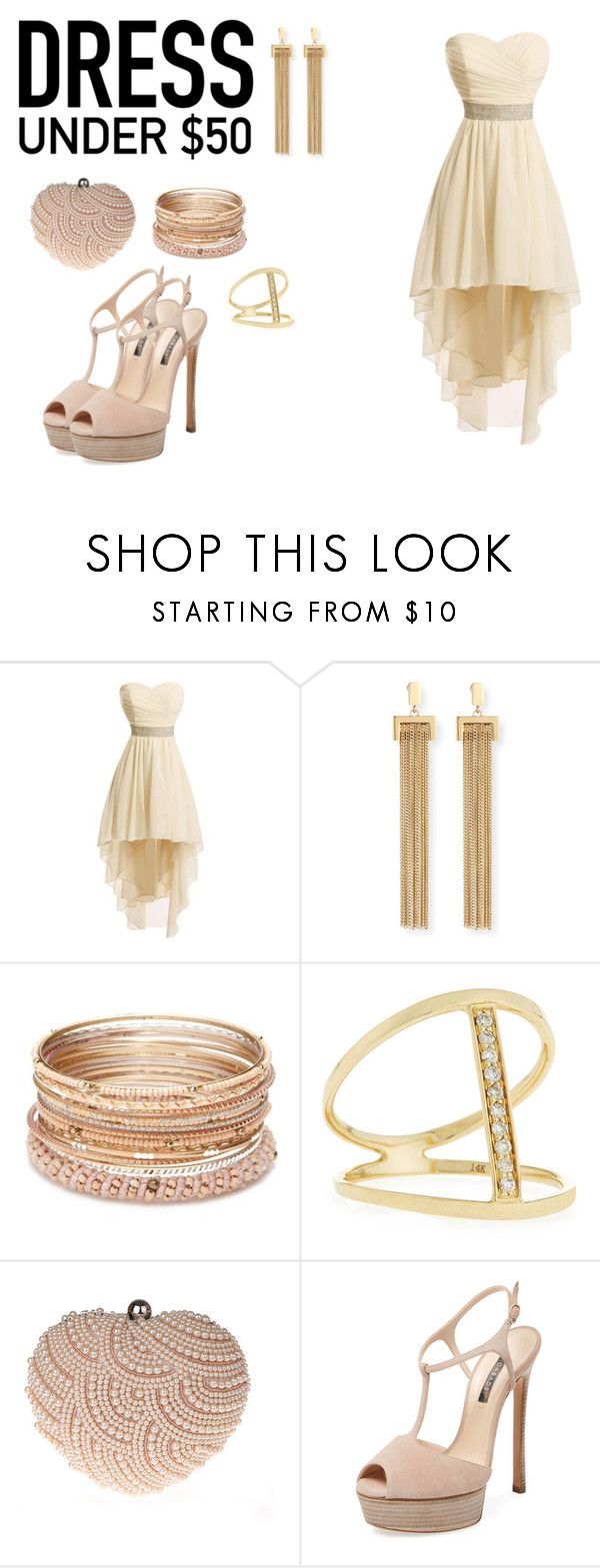 """""""homecoming dress under $50"""" by kimberlee-dawn ❤ liked on Polyvore featuring Chloé, Red Camel, Sydney Evan, Glam Cham, Casadei and Dressunder50"""