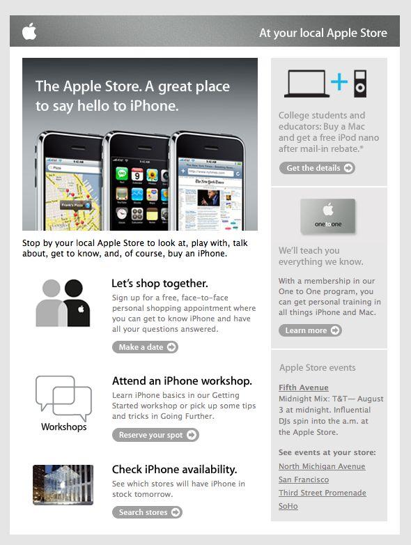 apple email newsletter