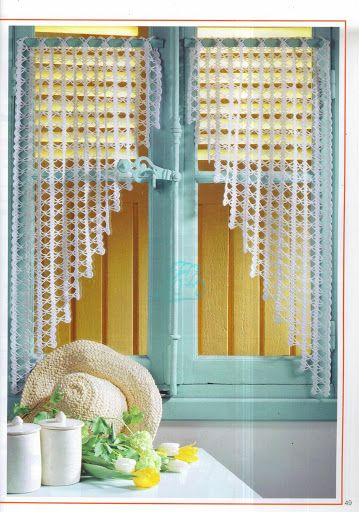 1000 images about cortinas y visillos de ganchillo crochet on pinterest filet crochet. Black Bedroom Furniture Sets. Home Design Ideas
