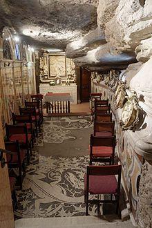 Manresa, Chapel in the Cave of Saint Ignatius where Ignatius practised ascetism and conceived his Spiritual Exercises