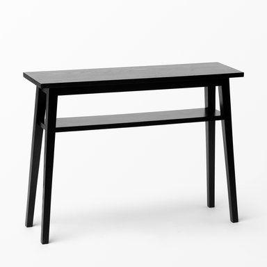 Sidobord med två hyllor, 100x75x30 cm, svart