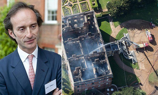 Let Clandon Park go to ruin, says earl whose 18th-century 80-room ancestral home was destroyed in blaze. The 8th Earl of Onslow, Rupert Onslow, wants the National Trust to spend estimated £65m insurance payout on maintenance of another building. Fire gutted nearly all of the Grade-1 listed 18th Century mansion's 80 rooms  House was handed over to the National Trust in 1956. Blaze ripped through the house in April 2015 due to an electrical fault. National Trust say the house will be rebuilt…