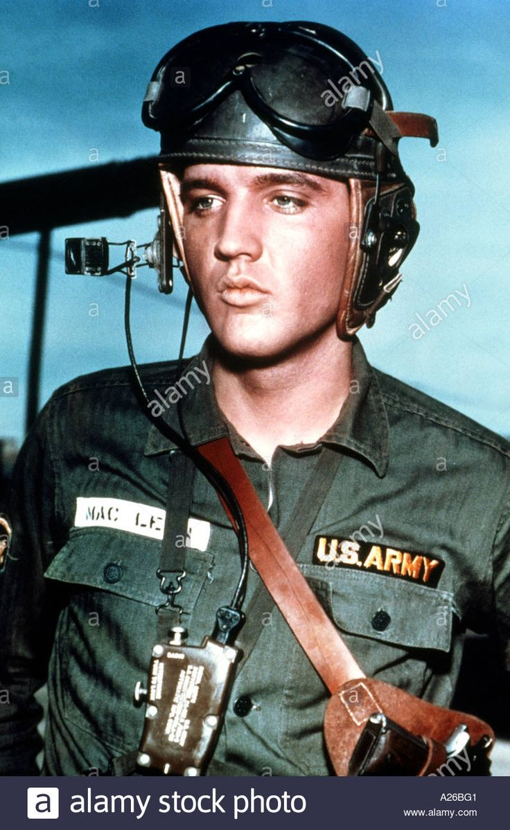 Elvis Presley During His Military Service At A Us Army Base In ...