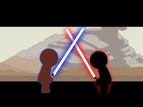 Jedi Vs Sith Stick Fight!