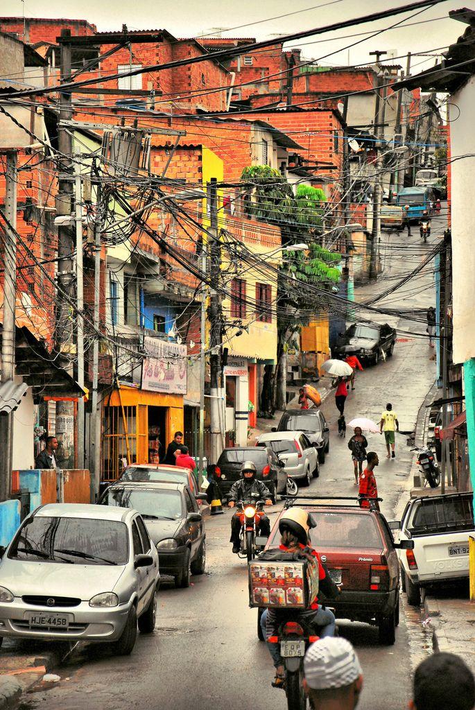 Favela Paraisópolis, a segunda maior favela da cidade de São Paulo, SP, Brasil.