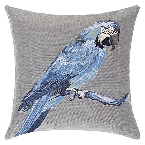 Channel tropical style in your space with the tapestry weave of the Macaw Cushion from Rapee.
