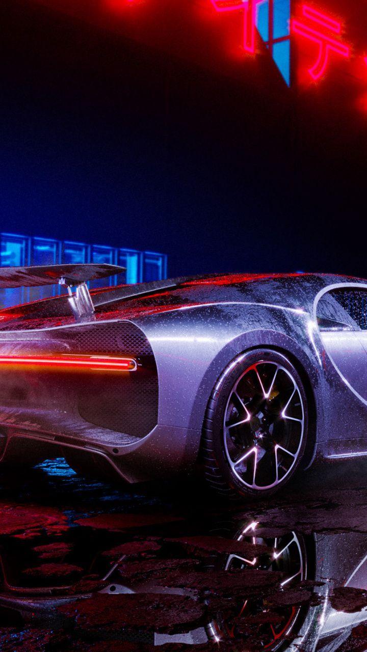 Imposing Wallpaper Bugatti Chiron Neon Lights Luxury Car 7201280 Wallpaper Car Wallpapers Bugatti Chiron Best Cars For Teens