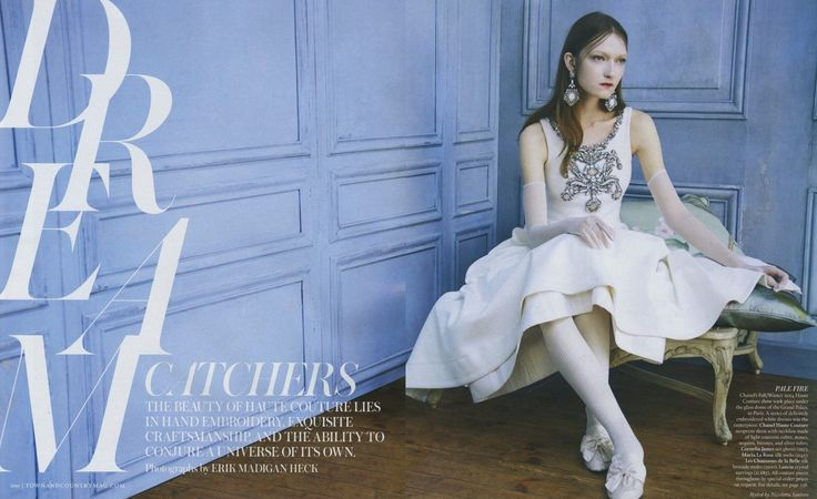 Kasia Jujeczka by Erik Madigan Heck for Town & Country December 2014 chanel couture