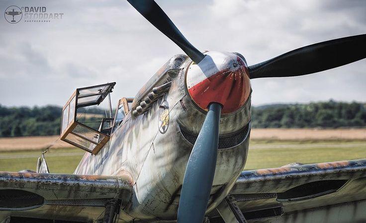 Bf109 Buchon G-AWHK Hispano HA-112 MIL close up. #warbirds #warbirdphotographer #ww2 #wwii #ww2planes #ww2history #secondworldwar #battleofbritain #luftwaffe #raf #militaryaviation #bf109 #aviationdaily #aviationphotography #excellentaviation #instaplane #aircraftrestorationcompany #aircraftsphotos #flyinglegends #duxfordairshows