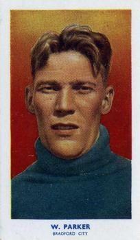 1939 R & J Hill Famous Footballers Series 2 #69 Wilson Parker Front
