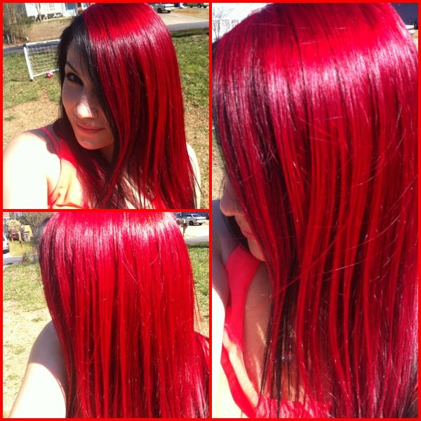 Bright Red Hair In The Sun L Oreal Hicolor Highlights