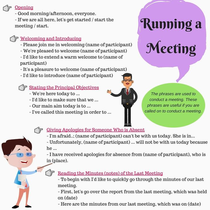 English for Business: Running a Meeting