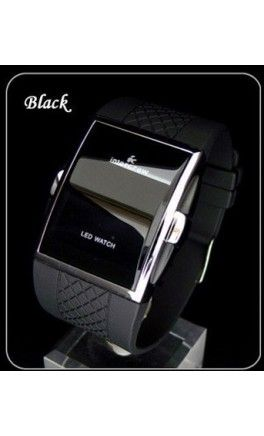 Mens LED sleeping watch: Stays black conserving battery life, turns on to show time once button is pressed for 3 seconds. - Apostolic Clothing
