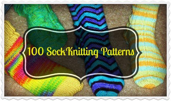 100 FREE Sock Knitting Patterns - The Knit Wit by Shair ...eine kostenfreie Sammlung von Mustern für Socken in Englisch