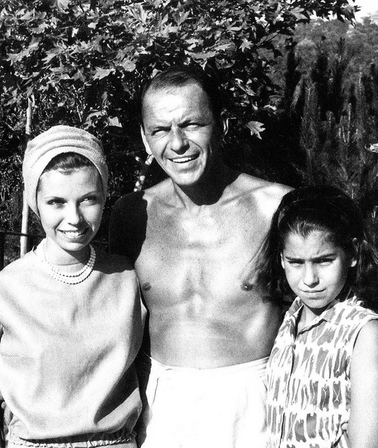 Frank Sinatra and his daughters - undated. - web source photo - MReno